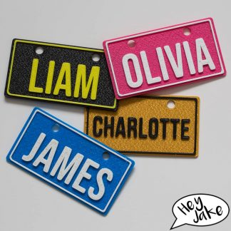 Hey Jake Kids Customisable Number Plates For Bikes, Trikes, Dinkies and more!