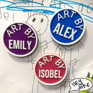 Kids Customisable Fridge Magnets - Art By Name