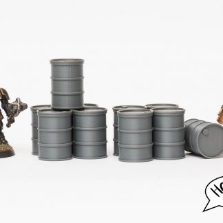 Here are some wargaming terrain barrels for Warhammer 40K, Killteam, Necromunda and the like!