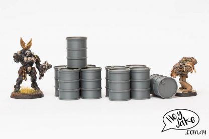 Here are some wargaming terrain barrels for Warhammer 40K, Killteam, Necromunda and the like!